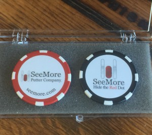SeeMore Poker Chip Ball Marker (set of 2 chips)