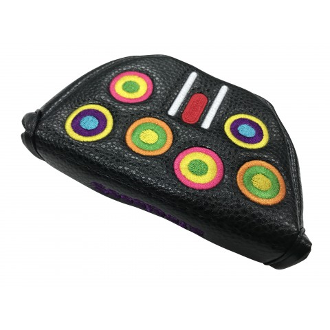 Mallet Head Cover Groovy Black - RH (Magnetic Closure)