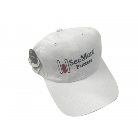 Imperial Hat with SeeMore Putter Logo - White