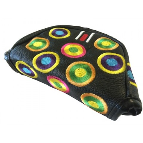 Right Hand Groovy Black Mallet Head Cover (Magnetic Closure)
