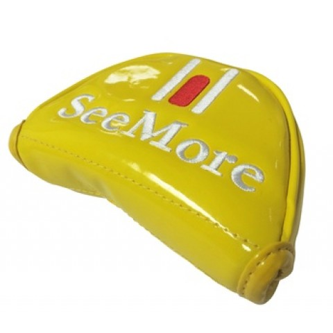 Right Hand Yellow Patent Mallet Head Cover (Velcro Closure)