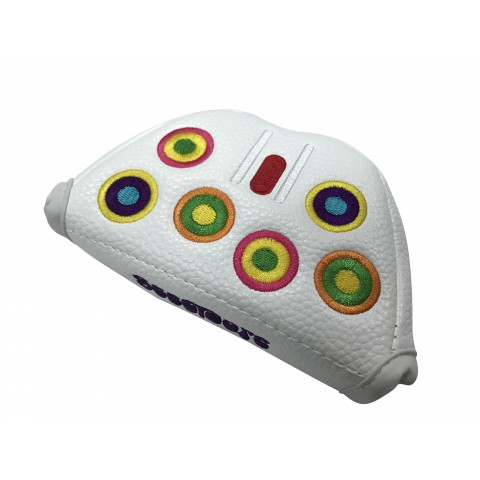 Mallet Head Cover Groovy White - RH (Magnetic Closure)