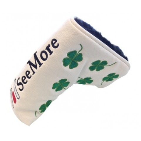 Four Leaf Clover Head Cover White (Magnetic Closure)